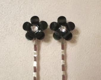 Black Flower Hair Pins