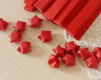 500 Pure red color Origami Star Paper Kit  paper Strips Lucky Wishing Star paper strips 500 pcs strips DIY Valentine gift