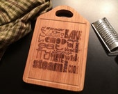 Cooking Words Laser Engraved Bamboo Cheese Cutting Board