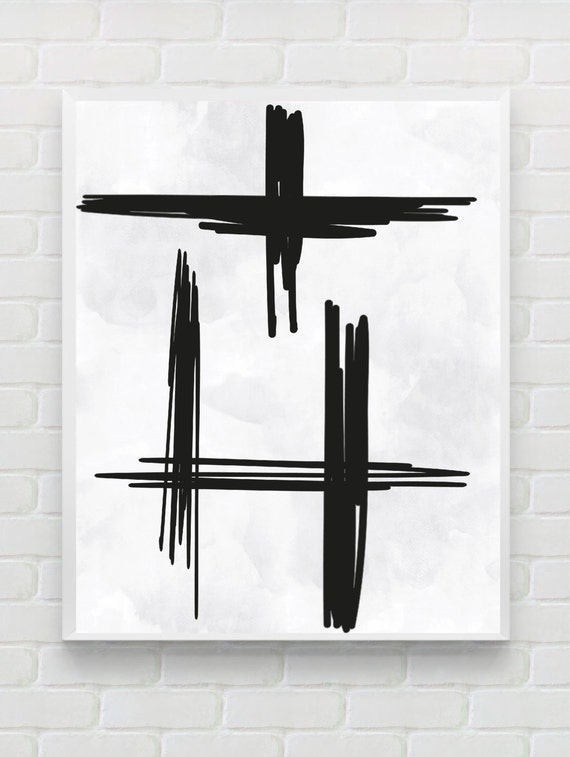 Printable abstract art modern wall art minimalist poster for Modern minimalist wall art