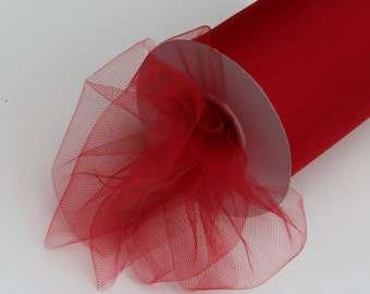 Red tulle roll - 100 yard tulle roll - 6 inches Red tulle rolls - tulle rolls red - Christmas tulle rolls - red tulle - Valentines Decor
