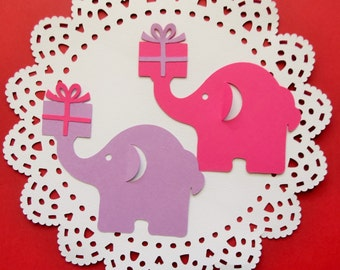 "Large Elephant Die Cuts (3.5"" W x 3"" H) - Set of 24 pcs"