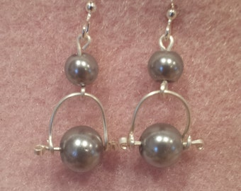 Pearl On A Wire Earrings