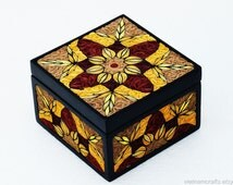 Handmade Quilling Box, Origami Art, Jewelry Storage box, Multipurpose box!
