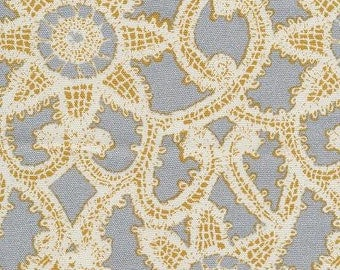 Like Lace Platinum, Floral Drapery, Waverly Fabric By TheYard