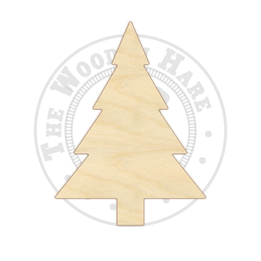 3 12 Christmas Tree Wood Cutout 170215 by TheWoodenHare