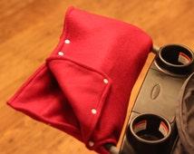 Stroller Cozy, Deep Red Fleece, Hand Warmer, Muff Mittens, Stroller Muff, Stroller Gloves, Pram Cozy, Pram Muff, Pram Mittens, Pram Gloves