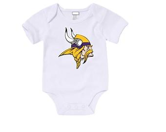 Custom Minnesota Vikings Onesies / T shirts with custom name and number,