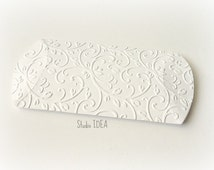 100 White Elegant Vineyard Embossed Pillow Boxes-Candy Box, Favor Box, Gift Box-or Choose Your Colors-Set of 100pcs