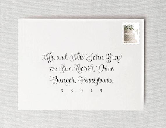 Printing Wedding Invitation Envelopes At Home: Wedding Invitation Envelope Address Printing Guest Envelope