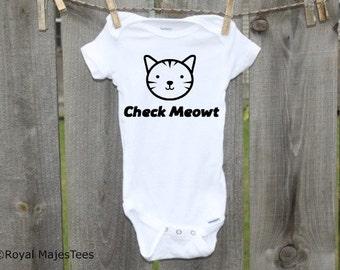 Check Meowt Onesies®, Funny, Humorous Cat Onesie