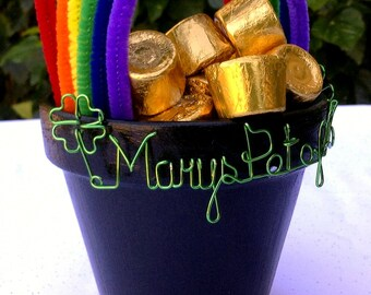 "ST. PATRICKS DAY - Personalized ""Pot of Gold"""