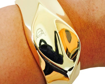 Fitbit Bracelet for FitBit Flex Activity Trackesr - The LORI Simple Shiny Gold Hinge Bangle Fitbit Bracelet - FREE U.S. SHIPPING