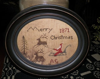 Santa's Sleigh Pdf cross stitch pattern