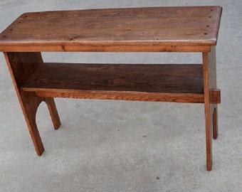 Solid Oak Sidetable