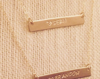 GOLD | Double Bar Necklace