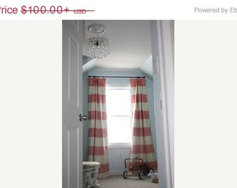 Early Black Friday Horizontal 12 Quot Stripe Curtains Navy Red
