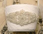 Lace Flower Girl Basket - Pearl and Rhinestone Flower Girl Basket - Light Ivory Winter Wedding Flower Girl Basket - Vintage Wedding Decor