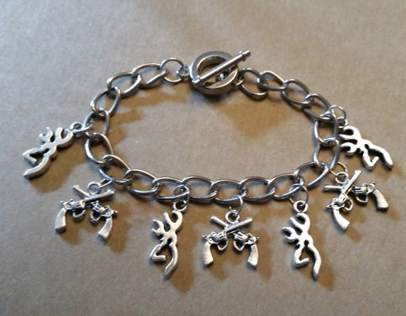 browning charm bracelet by countrycutiejewelry on etsy