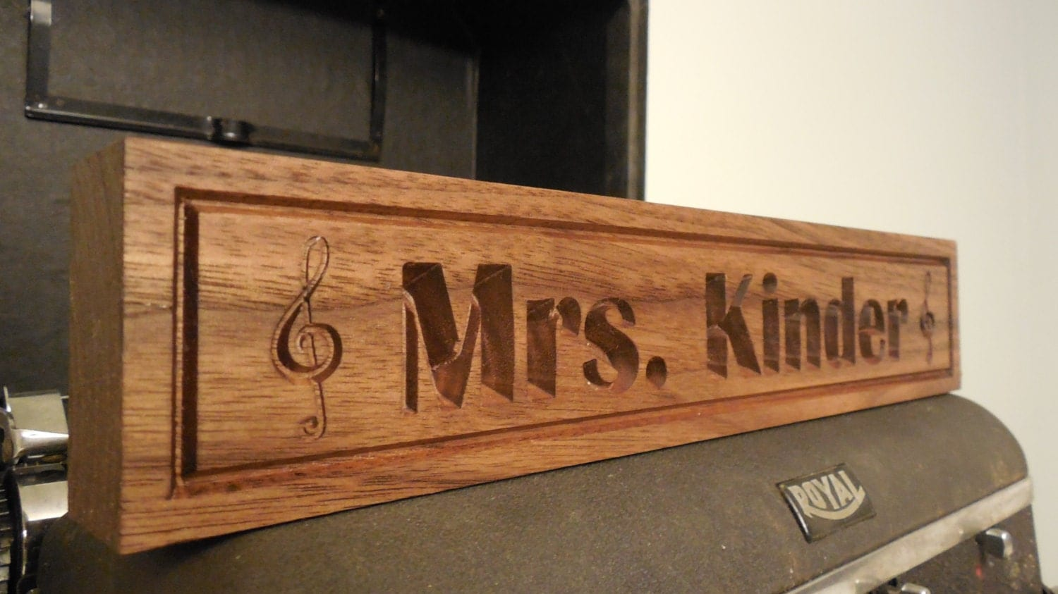 Desk Name Plate Teachers Gift Music Notes Name By