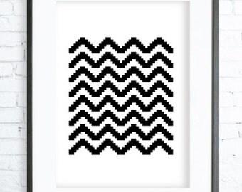 Geometric Print Art , Geometric Print, Instant download printable, Black Print, digital print, printable wall art