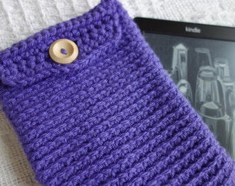 Royal Purple Chunky Crochet kindle cover/case/protector (Kindle not included!)