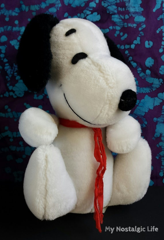 Vintage Snoopy Peanuts Gang Plush Toy Dog By