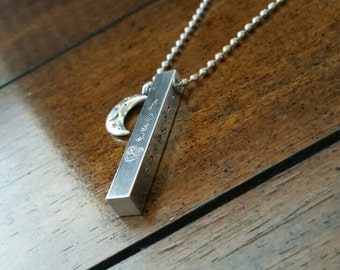 Mother's bar necklace