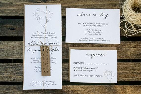 Environmentally Friendly Wedding Invitations: Organic Wedding Invitation Eco-Friendly Wedding Invitation