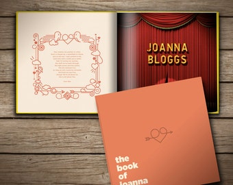 Personalised gift book for boyfriends, girlfriends, spouses and partners