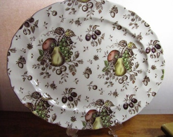Vintage Autumn's Delight Platter by Johnson Bros - Made in England