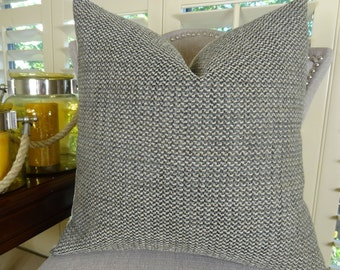 Gray Textured Throw Pillow Cover - Neutral Pillow - Weave Textured Gray Taupe Green Pillow - Luxury Designer Decorative Throw Pillow - 11254