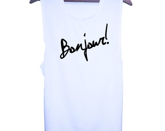 Bonjour! Muscle Tee