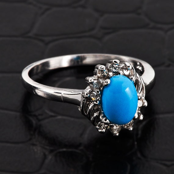 turquoise ring white gold turquoise ring turquoise