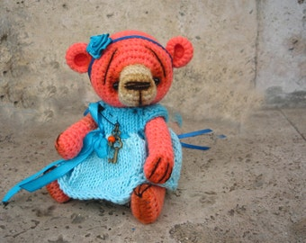 Cute crocheted Teddy Bear #1, free shipping