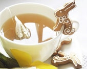 "16 mini Easter bunny  ""sit on cup"" cookies"