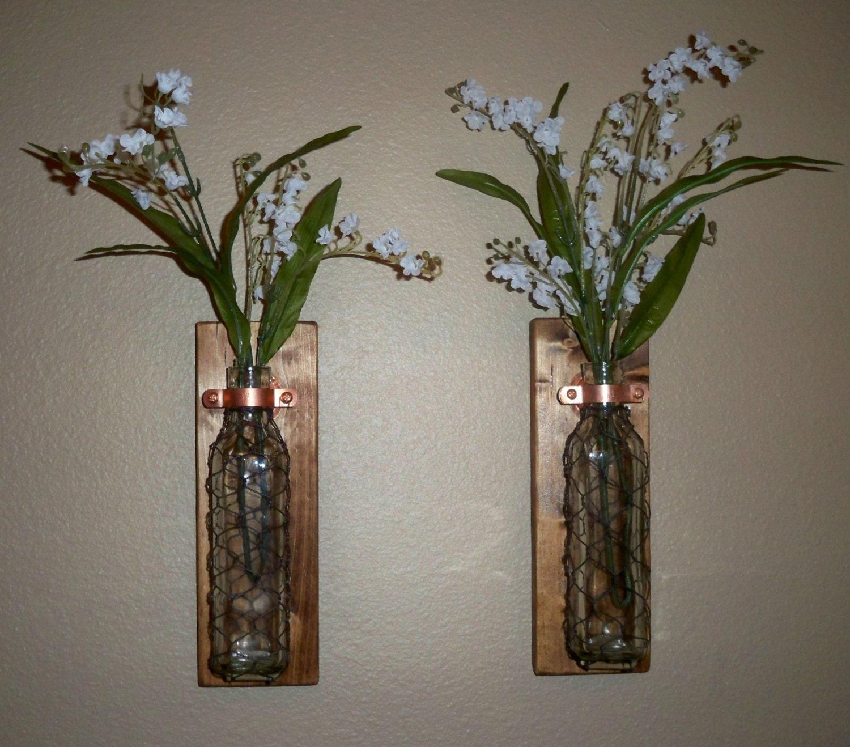 Wire Kitchen Wall Decor : Chicken wire wall decor vase set kitchen housewarming