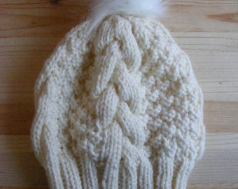 Toddler Girl Hat, Toddler Knit Hat,Cable Knit Hat, Winter Hat for Kids