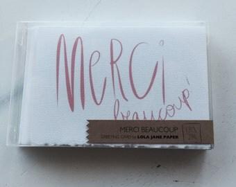Merci Beaucoup Cards • set of five (MC010103)