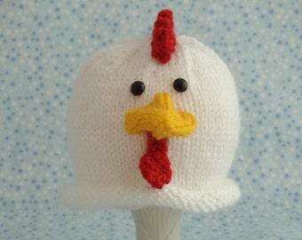 Cute baby hats Baby chicken hat newborn chicken hat child chicken hat farm animal hat animal hat