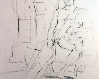 charcoal figure drawing No. 3