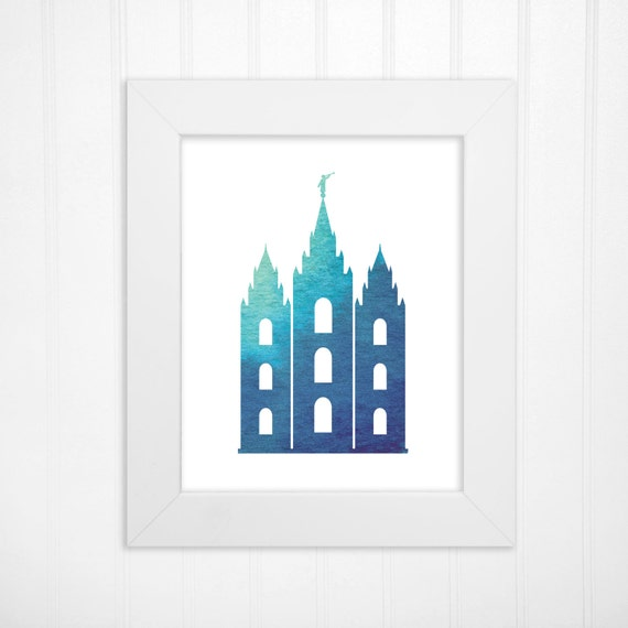 LDS Temple LDS Mormon Religious Wall Art And Home Decor 5x7 8x10