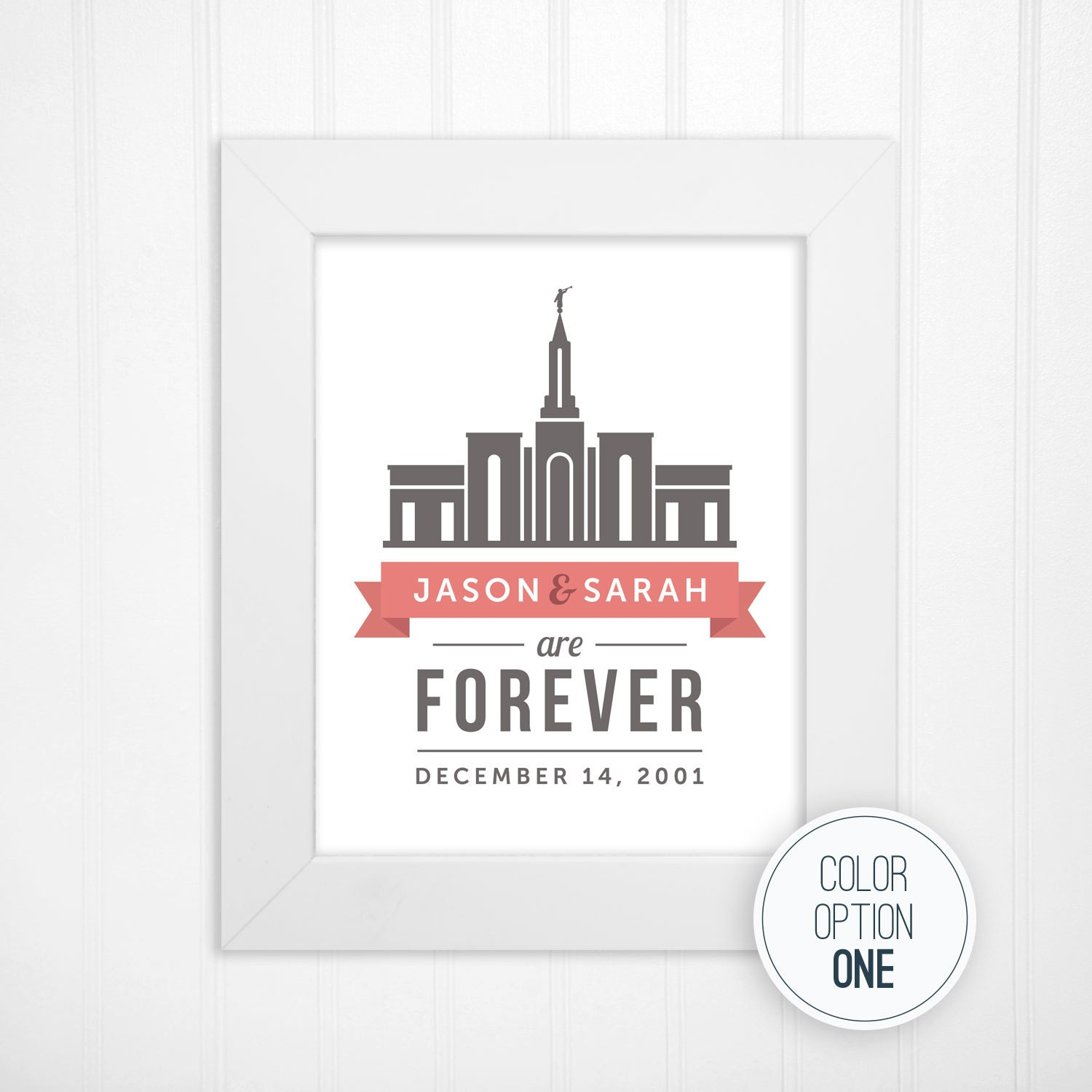 custom lds temple print in choice of color combination