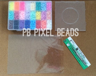 perler beads kit : 5mm 4,800 pcs or 3mm 16,800 pcs