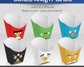 6 Popcorn Box Angry Birds