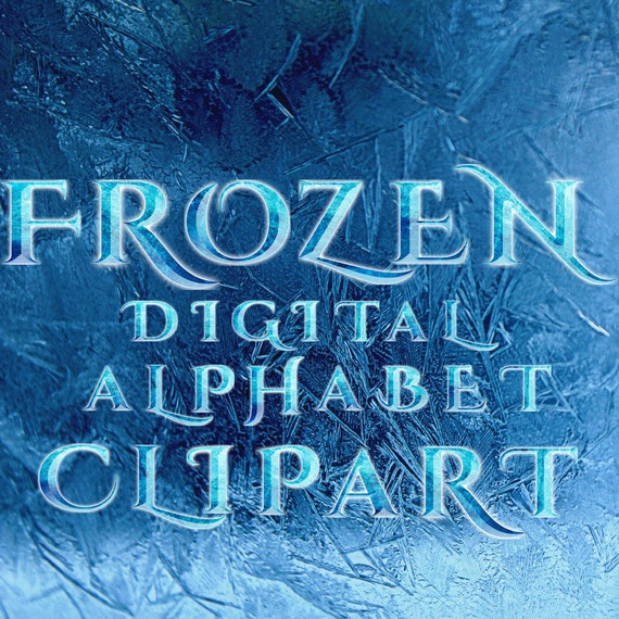 Frozen Alphabet Clipart Frozen Letters Numbers Clipart