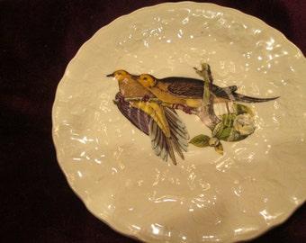 Vintage Meakin Birds of America Caroline Turtle Dove #17 saucer/plaste