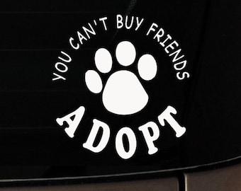 You Can't Buy Friends Adopt!  Mom-I-Love-My-Dog-iPad-Vinyl-Car-Window-Decal-Sticker-Pitbull Rescue