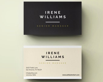 Classic  Business Card Template | Photography Buiness Card - Business Card Design - Simple Business Card - Calling Card Printable