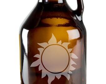 Hot Burning Sun 64oz Beer Wine Growler